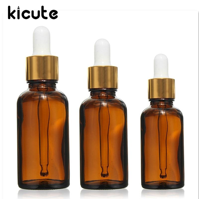Kicute 1 PC 30 50 100 ml бутылки из темного стекла пустой эфирное масло капельницы глаз ароматерапия лаборатории бутылки лаборатории канцелярские