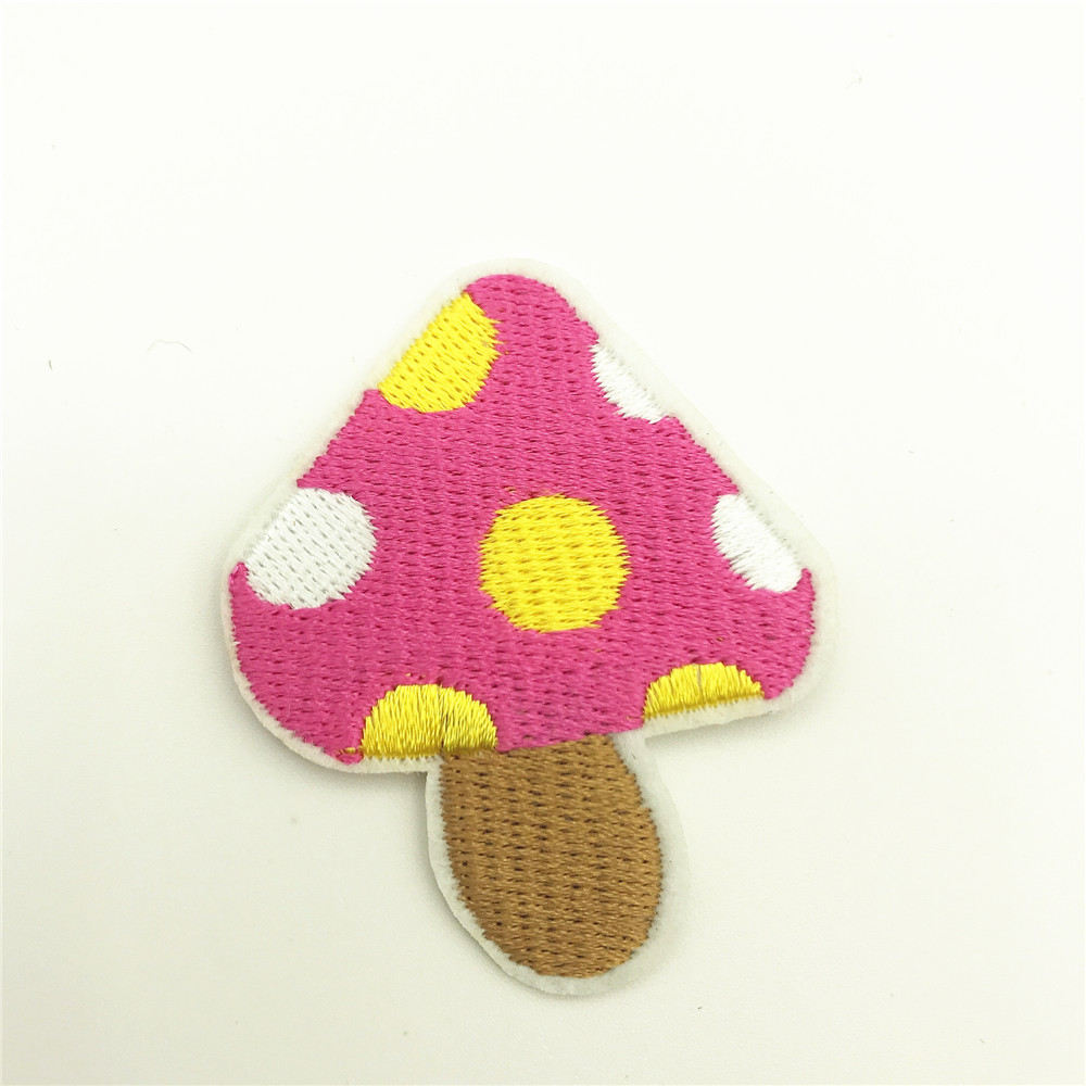 100pcs 5 0 4 0cm Cartoon Mushroom Patch Iron On Vegetable Stickers for Baby Clothes DIY Kids Jeans Bags Appliques Handmade Coats in Patches from Home Garden