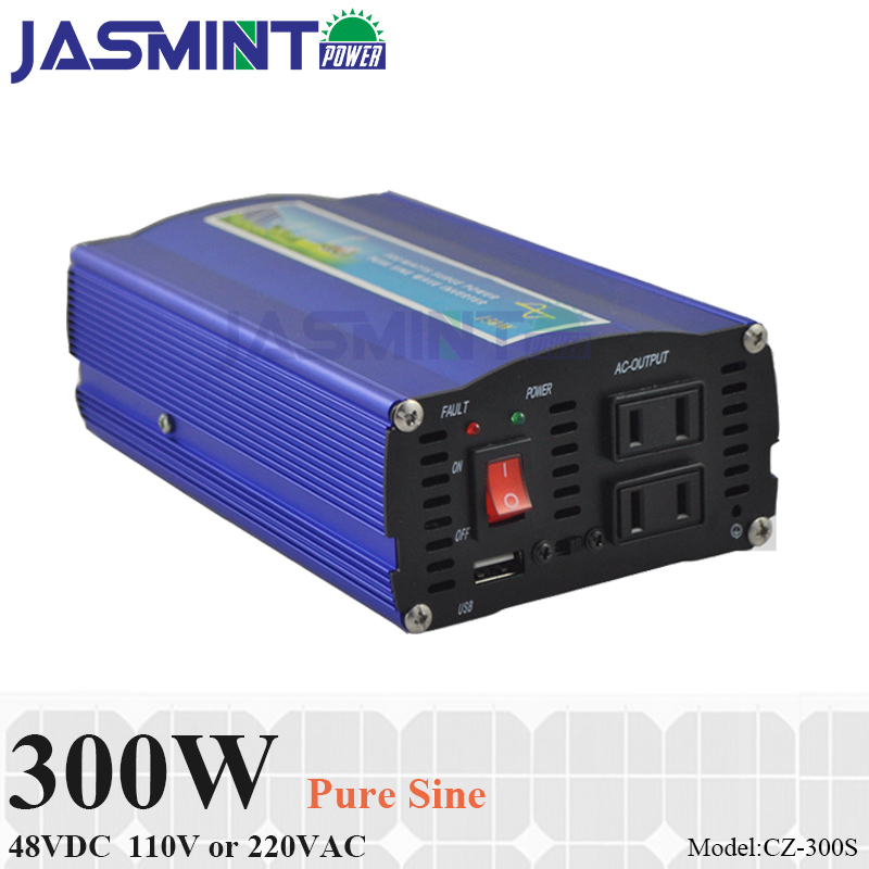 300W 48VDC off grid pure sine inverter for solar or wind power system, surge power 600W single phase dc to ac inverter