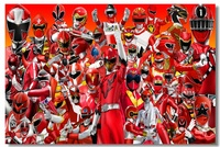 Custom Canvas Wall Murals Power Rangers Poster Power Rangers Wall Sticker Mural Samurai Wallpaper Kids Room