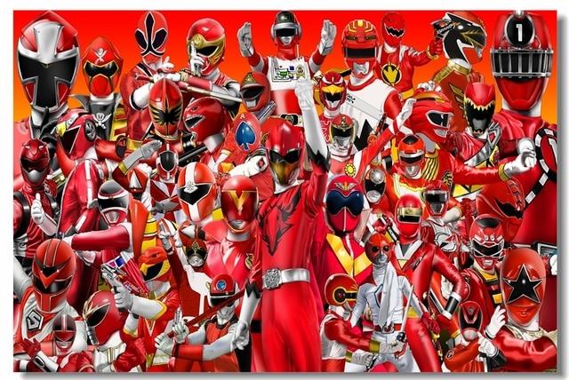 Good Custom Canvas Wall Murals Power Rangers Poster Power Rangers Wall Sticker  Mural Samurai Wallpaper Kids Room Part 28