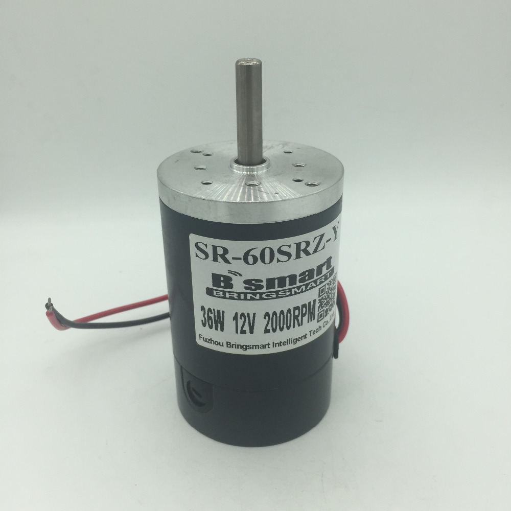 60SRZ-Y 12V 24V Dc Motor Permanent Magnet High Speed Motor 2000-4000rpm 36W Speed Control Reversible For Marshmallow Motor etc. motor permanent magnet dc motor zytd 60srz f1