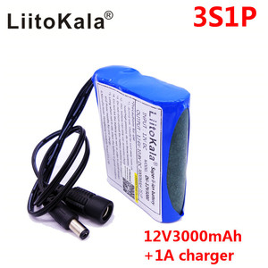 Image 3 - HK LiitoKala Dii 12V3000 DC 12 V 3000 mAh 18650 Li   lon DC12V แบตเตอรี่ชาร์จไฟ + เครื่องชาร์จ AC + ป้องกันการระเบิด EU