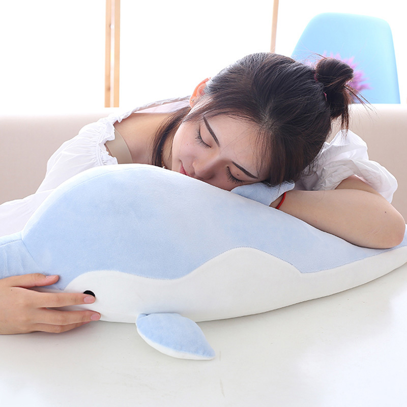50/70cm Dolphin Pillow Dolphin Plush Doll Cartoon Plush Toys Soft Throw Nap Pillow Toys Cushion for Children Birthday Gift