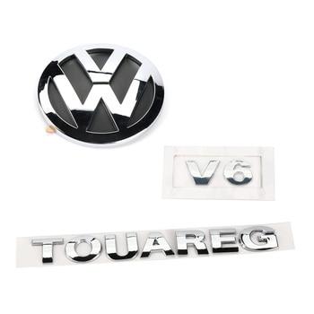 New Rear Badge Boot Chrome 125mm Emblem V6 TOUAREG 3pcs for VW Sharan 2011-2016 Touareg 2011-2014 7P6 853 630 A