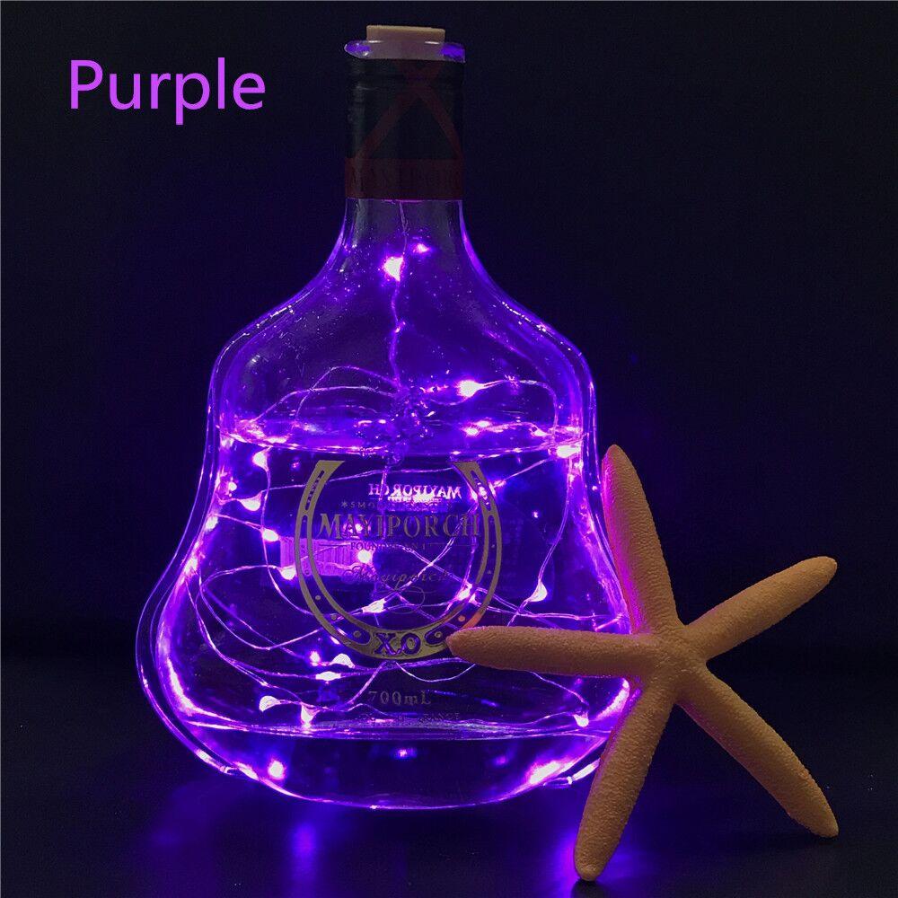 Wine Bottle Cork Shaped String Light 2m 20 LED Night Fairy Light Lamp Xmas For Christmas, Party,Wedding Holiday Decoration Lamp