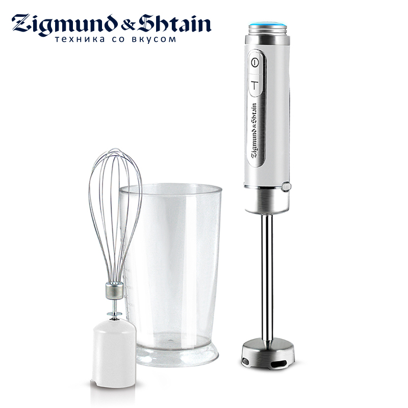 Zigmund & Shtain BH-130RM Blender Hand kitchen 600W 600ml Mixer Food processor Household use 12 modes Turbo