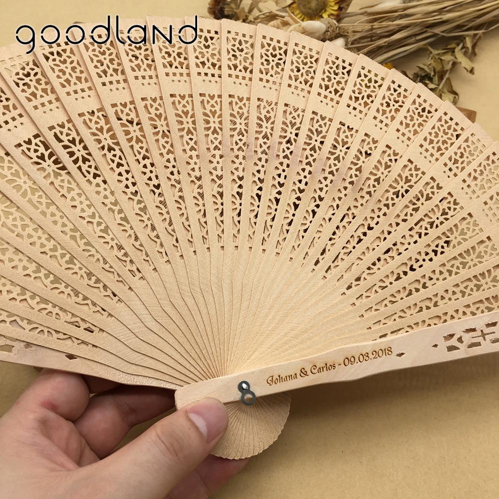 Free Shipping Wholesale 50pcs/lot Wood Handle Fabric Folding Hand ...