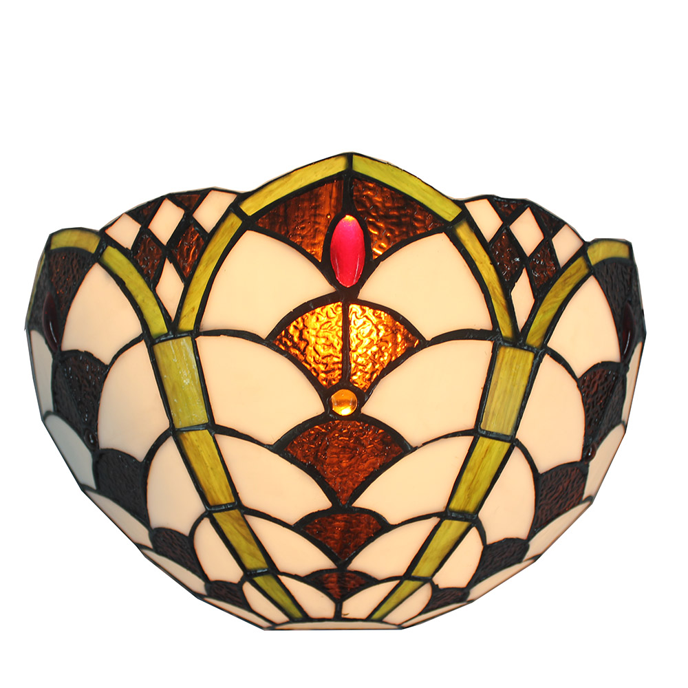 Stained Glass Handcrafted Raindrop Wall Light Jeweled Wall Sconce ...