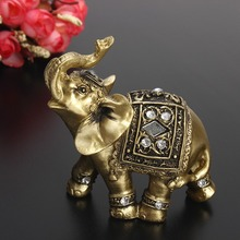 Feng Shui  Elephant Trunk Statue Lucky Wealth Figurine Crafts Ornaments Gift Home