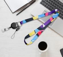 No MOQ High quality printing Custom lanyard for Retractable ID Badge Reels neck strap lanyard for phones Gym Hang Rope Lariat