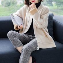 XL Брендовое пальто, Женское пальто с круглым вырезом, Осень-зима, новое толстое теплое шерстяное пальто на молнии, хит цвета, модная дикая верхняя одежда для женщин
