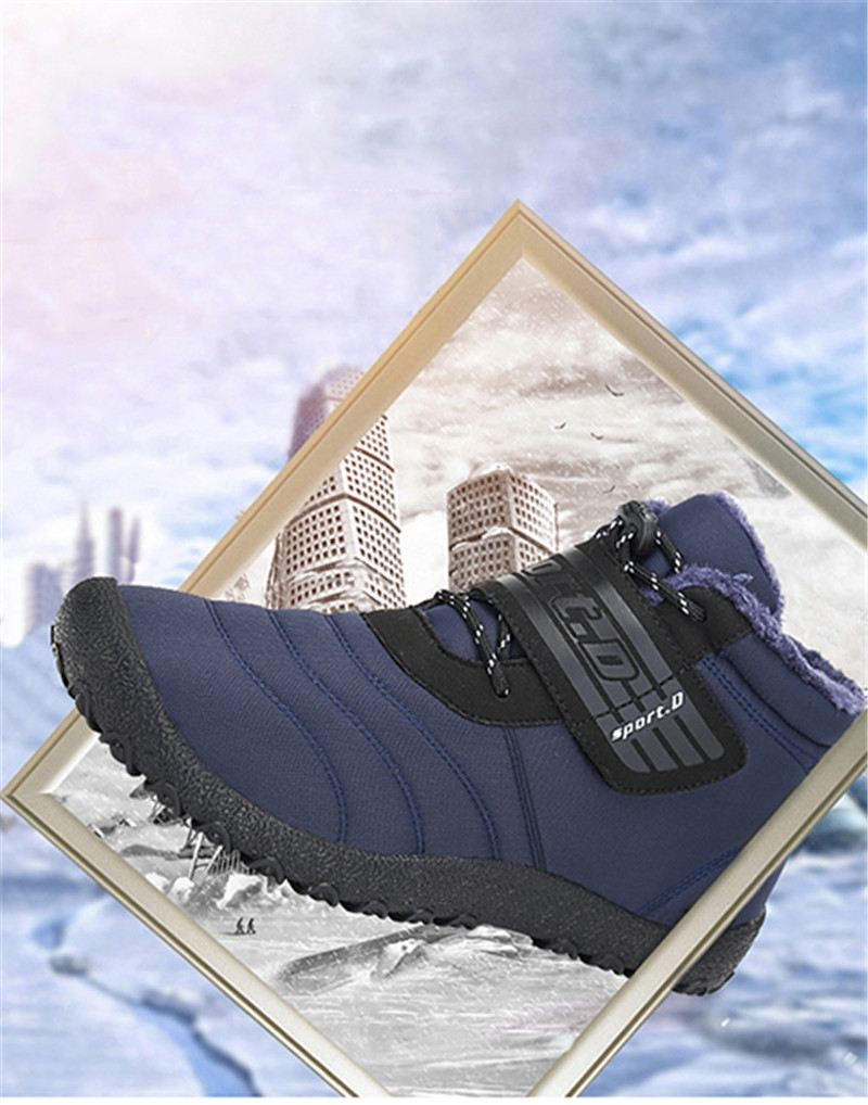 Basic Boots Objective Winter Boots Men Leather Winter Shoes Men Plus Size Tennis Sneakers For Winter Ankle Boots Male Warm Lovers Casual Botas Hombre