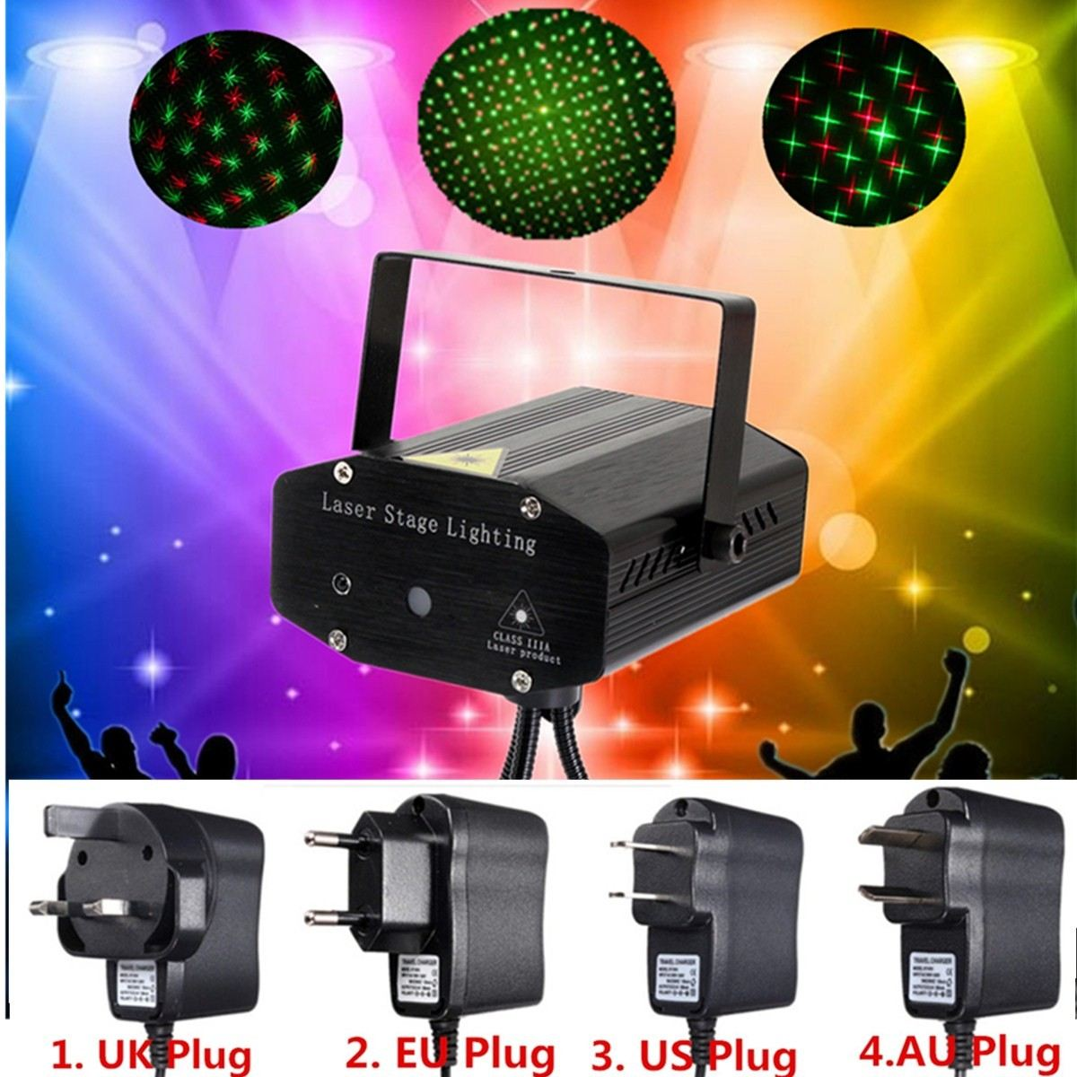 Remote Control Laser Projector Stage Light LED Night Lamp Hanging With Tripod DJ Club Pub Bar Disco Wedding Party Show Lighting opening 20 mm tripod with lamp red circle ship type switch kcd1 105 3 feet 2 file with lamp
