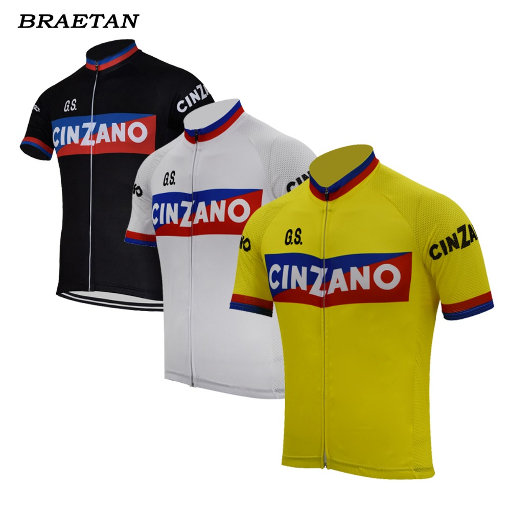 men cycling jersey black yellow white retro clothing cycling wear summer  classic bicycle clothes cycling clothing braetan-in Cycling Jerseys from  Sports ... 7056a9dc5