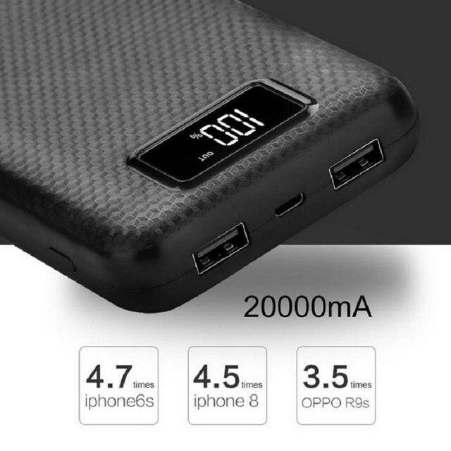 Новые модные Мощность bank дело без Батарея Выход Мощность банка Box Портативный Зарядное устройство внешние аккумуляторы для Xiaomi Mi iPhone X Примечание