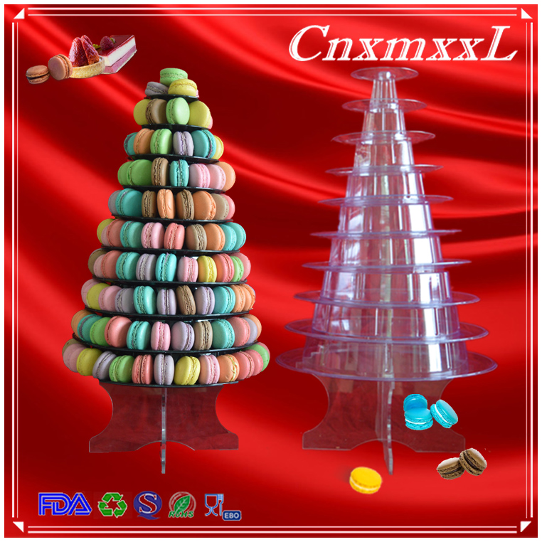 40 Tier Clear PVC Blister Macaron Display Tree Macaron Display Tower Gorgeous 10 Spiral Ornament Display Stand