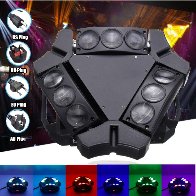 DMX RGB Digital Display Auto Voice Control LED Magic Triangle Stage Light Night Lamp Club Bar Disco Wedding Party Show Lighting