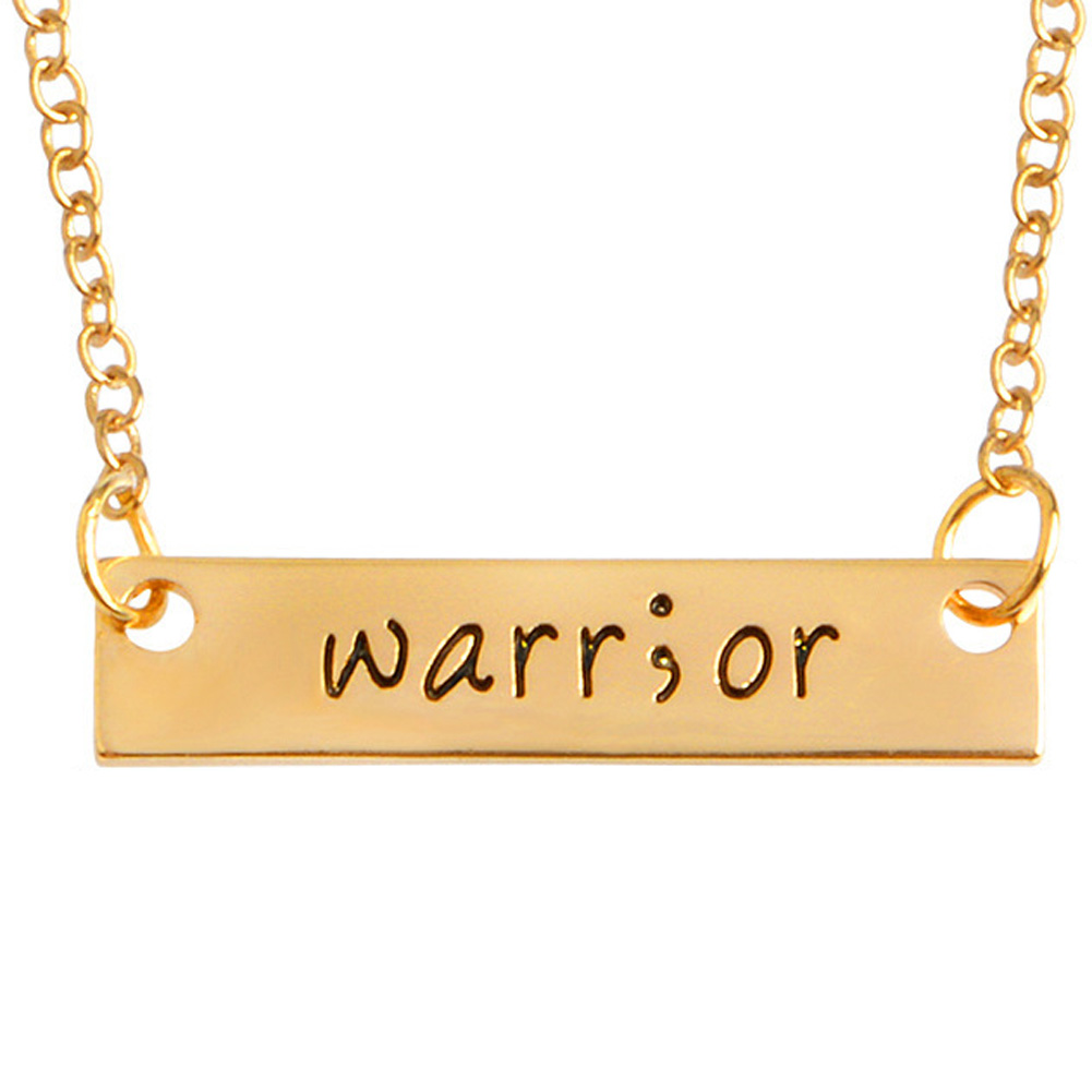 2017 new Fashion long creative warrior inspirational good friends necklace gifts Korean style