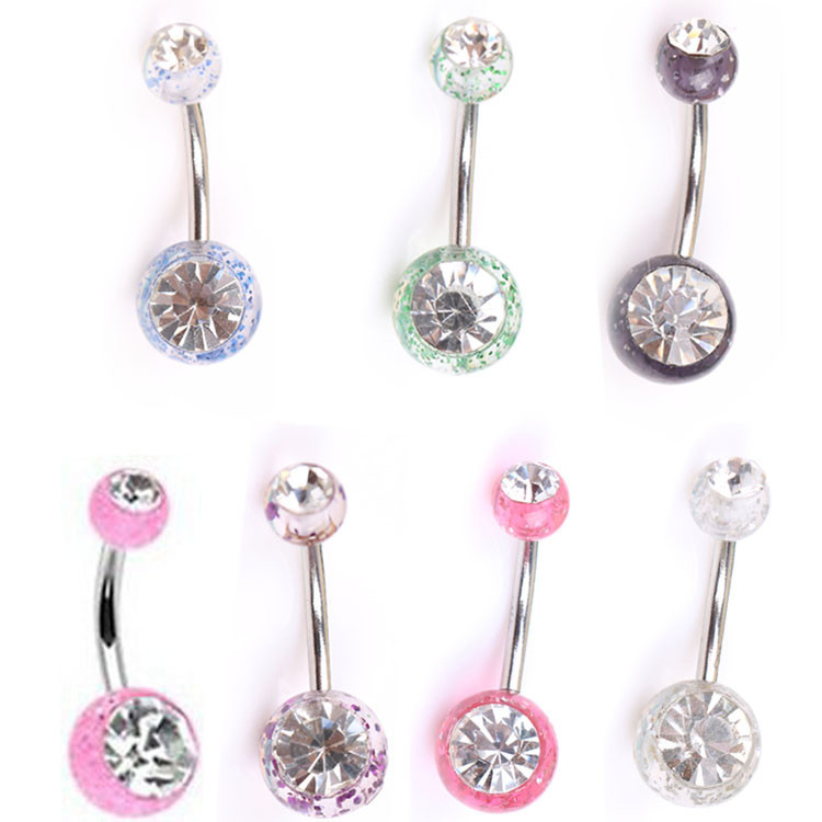 Anti Allergy Simple Lounger Titanium Earrings Ear Nail Belly Button Rings Navel Piercing Rings Ombligo Alargador Orelha Dropship