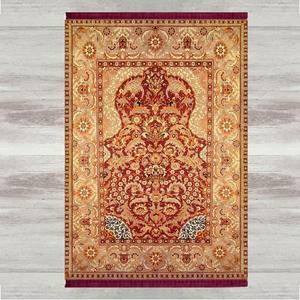 Image 1 - Anders Bruin Rood Vintage Etnische 3d Print Turkse Islamitische Moslim Gebed Tapijten Tasseled Anti Slip Moderne Gebed Mat Ramadan Eid geschenken