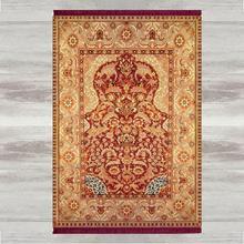 Else alfombra para rezos musulmanes, alfombra para rezos musulmanes con estampado 3d étnico Vintage, marrón y rojo, tapete antideslizante para rezar, regalos de Eid de Ramadán