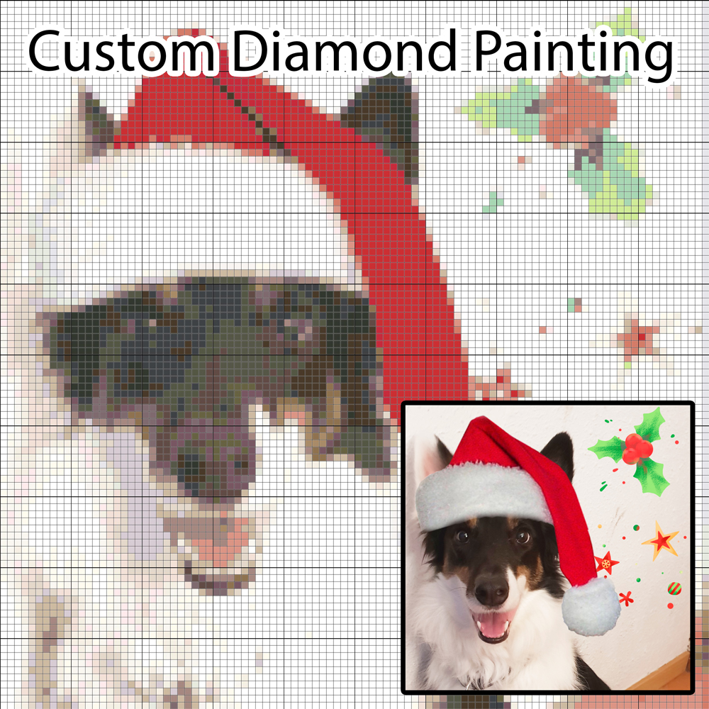 5D Photo Custom Diamond Painting DIY Cross Stitch Design