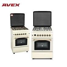 Газовая плита с электрической духовкой с конвекцией AVEX FEG6021YR, с чугунными решетками
