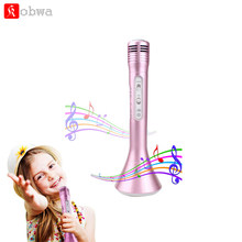 Portable Wireless Karaoke Microphone Bluetooth Handheld Karaoke Machine with Speaker Mic Party KTV Home Mike Systems for phone(China)