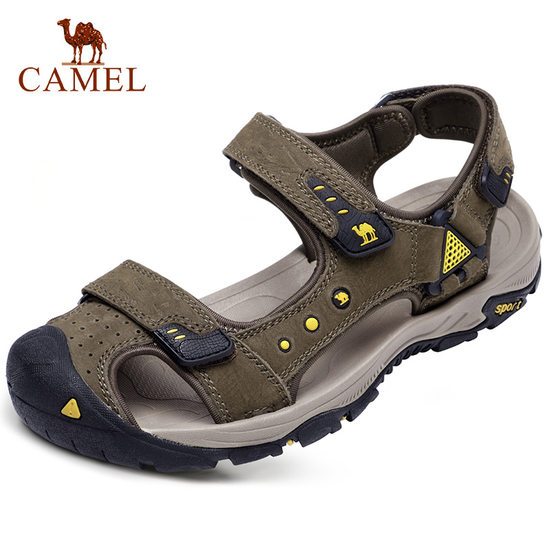 CAMEL Men s Summer Genuine Leather Men Shoes Fisherman Comfort Cowhide Sports Shock Absorbing Beach Outdoor
