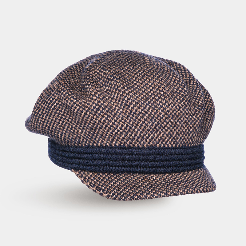[Available from 10.11]Hat Newsboy hat Canoe3450754 sewing thread tartan newsboy cap with embroidery