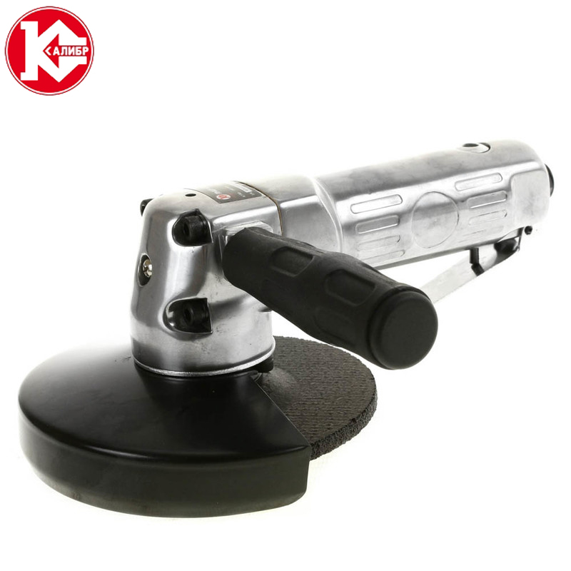 Kalibr PMSHU-6.3/125 Pneumatic Angle Grinder Air Angle Grinder With Grinding Disc For Grinding and Polishing kalibr mshu 125 1055 angle grinder grinding machine metal polisher angular power tool metal and wood cutting sanding polishing