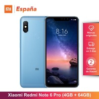 [Global Version for Spain] Xiaomi Redmi Note 6 Pro (Memoria interna de 64GB, RAM de 4GB, bateria 4000, Cuatro camaras IA)
