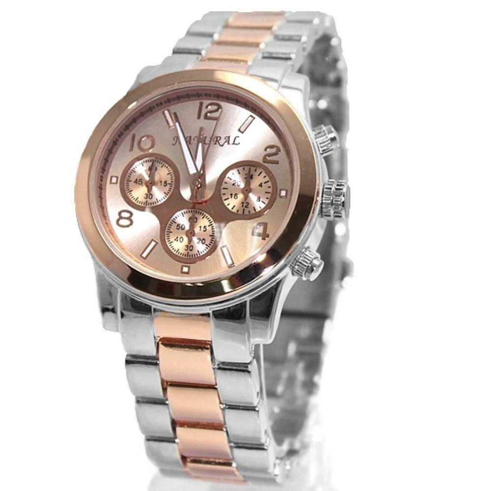 ALEXIS Män Analog Quartz Runda Armbandsur Japan PC21J Rörelse Rose - Damklockor - Foto 2