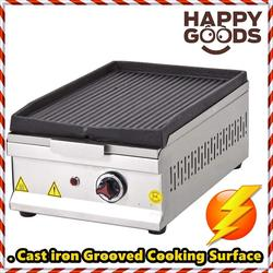 ELECTRIC Commercial Countertop GROOVED HEAVY DUTY CAST IRON Surface Restaurant Cafe Home Grill Hot Plate Stove Cooktop Griddle
