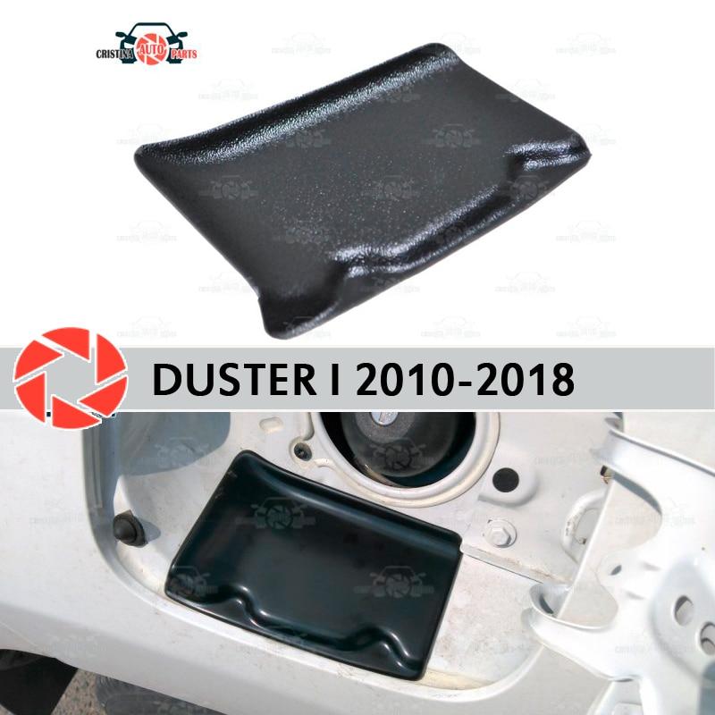 Couvercle dans la trappe d'ouverture carburant pour Renault Duster 2010-2018 garniture accessoires protection voiture style décoration remplissage cou