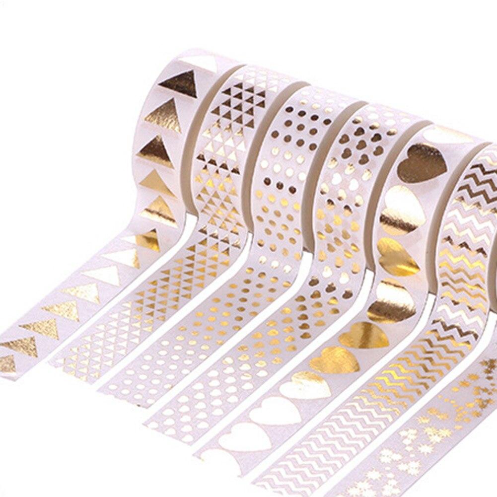 2017 New Dot Triangle Heart Diamond Foil Washi Tape 15MM*10M Kawaii Fita Adesiva Decorativa For Gift Packing Wedding Papelaria цены онлайн