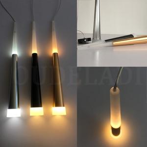 Image 5 - 1 sztuk nowoczesne led stożkowe lampy wiszące 7W aluminium akrylowe oświetlenie wewnętrzne jadalnia/salon bar cafe wiszące lampy