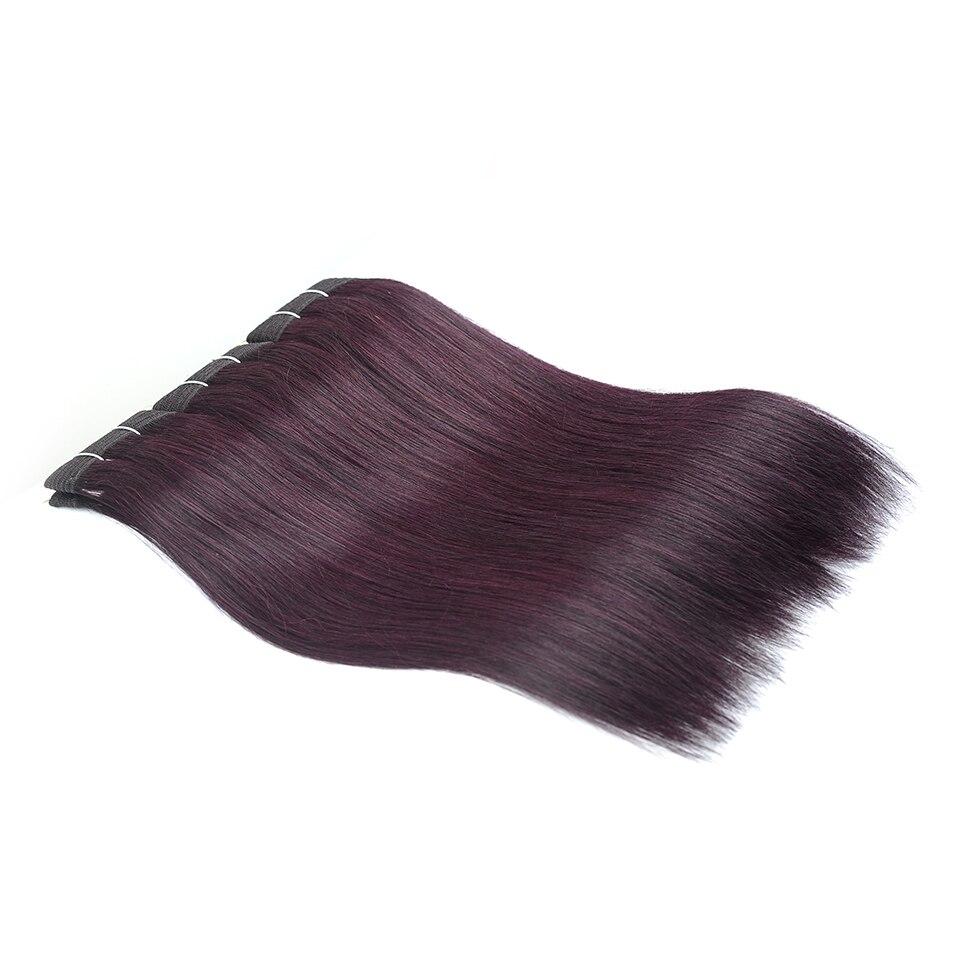 I-Envy Dark Grape Red Hair Bundles Human Hair Weave 3Pcs Lot Dark Purple Colored Straight Hair Bundles Nonremy 10-26 Inches Chic