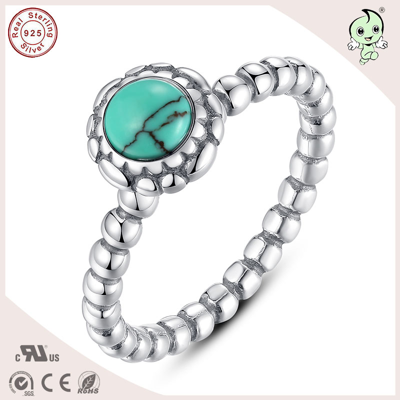 Hot Sale Good Quality Noble With Kallaite Stone Genuine 925 Sterling Silver Ring