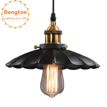 Dengtoe Vintage Pendant Lights Vintage Pendant Lamp for Dining Room Antique Black Lighting Fixtures Kitchen Island Office Lamp