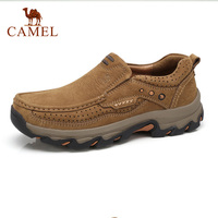 CAMEL Outdoor Mountain Casual Shoes Waterproof Men's Genuine Leather Men's Tooling Work Shoe Soothing Soft Shock Footwear