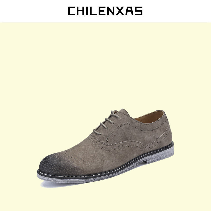 CHILENXAS 2017 spring autumn classic fashion genuine leather font b shoes b font men font b