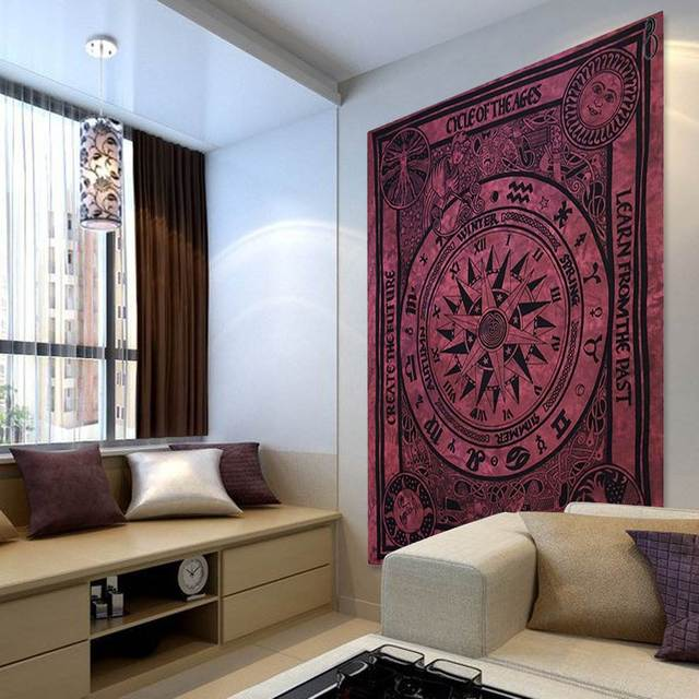indien tapisserie 210 140 cm mandala boho couvre lit. Black Bedroom Furniture Sets. Home Design Ideas