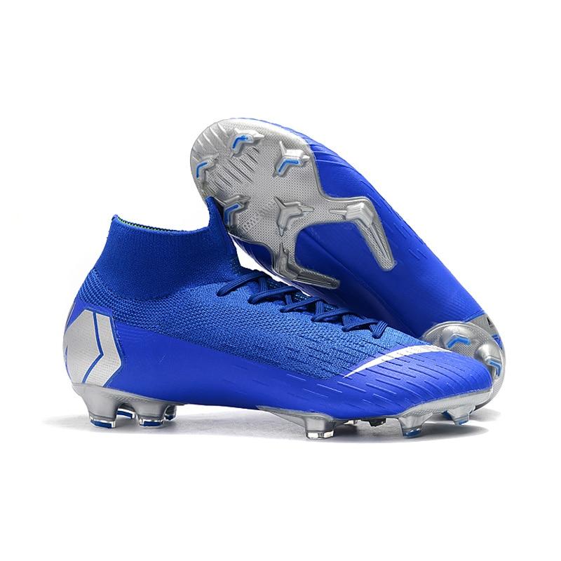 dfe2e338d88 FANCIHAWAY Kids Soccer Shoes Men Outdoor Football Boots High Ankle Superfly  360 Elite