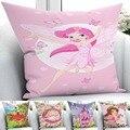 Else/Розовый Замок принцессы для девочек  детский домашний декор  автомобиль  3D принт  наволочки на подушку  квадратная скрытая молния  45х45см
