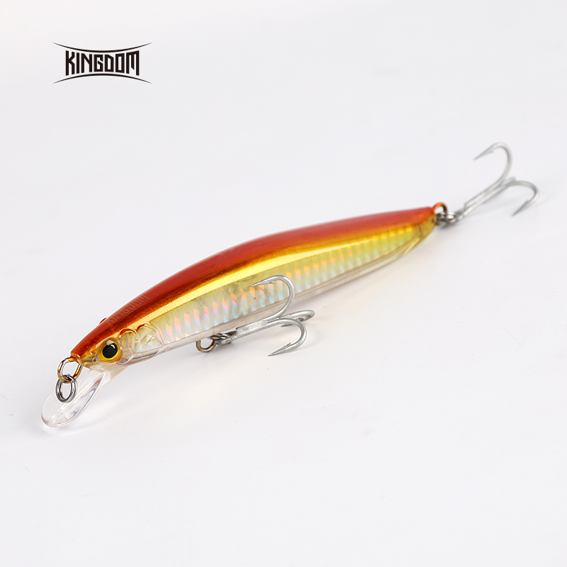 Kingdom Fishing Hard Lure Floating Bait Jerkbait Minnow New Arrival Bass Fishing 120mm 23g, 130mm 30g Strong Hooks Model 7502 allblue new jerkbait professional 100dr fishing lure 100mm 15 8g suspend wobbler minnow depth 2 3m bass pike bait mustad hooks