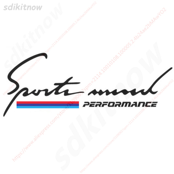 28x10cm New Car Sticker Decal Performance Sticker 3 Color For BMW M3 M5 X1 X3 X5 X6 E36 E39 E46 E30 E60 E92 image