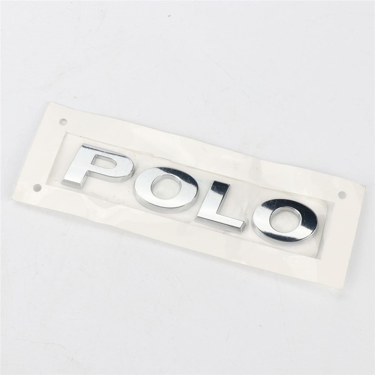 1 unid cromo portón trasero tapa del maletero placa emblema adhesivo Logo para VW POLO 6RD 853 de 675 A 739