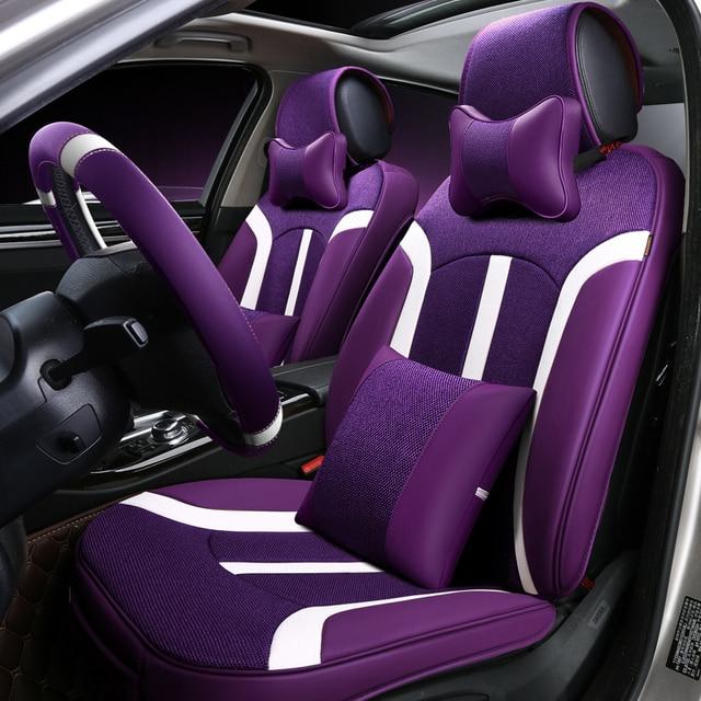 Front Rear Car Seat Cover Universal For Kia Forte Honda Fit Hyundai Santa